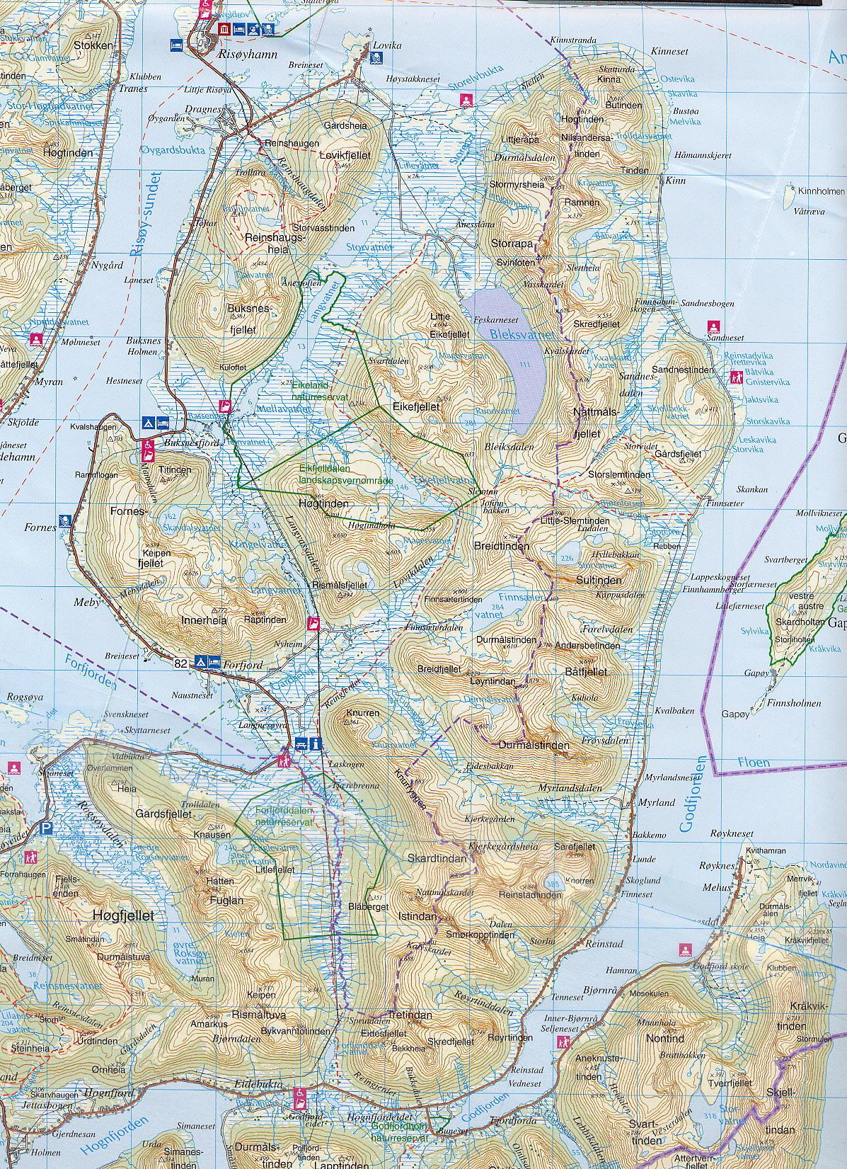 kart over hinnøya .hinnøy.no   Kart kart over hinnøya