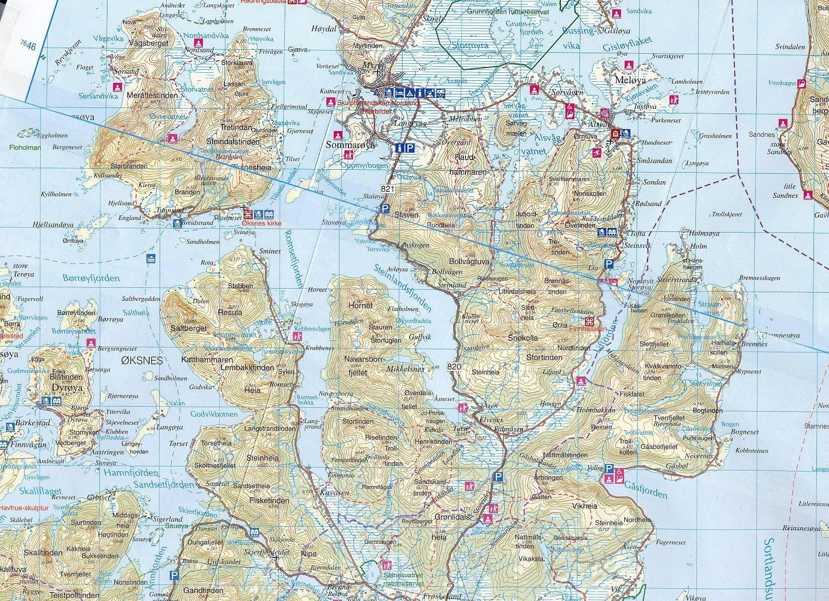 kart sortland .hinnøy.no   Kart kart sortland